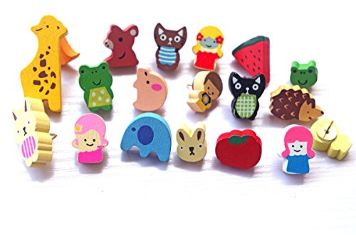 19 PCS Cute Push Pins,Lovely Animal Shape PushPins Cartoon Drawing Pins Creative Thumbtacks Decorative for Bulletin Board of School Home & Office (Cute Bulletin Boards)