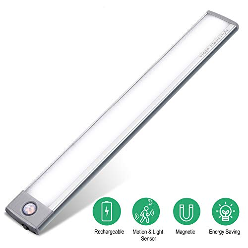 LED Closet Light, Ultra Slim Designed Under Cabinet Lighting with Light Guide Panel for Uniform light. LED-Under-Cabinet-Lighting-Closet-Light. Fits Well in Wardrobe, Cupboard, Cabinet, Anywhere Dark.