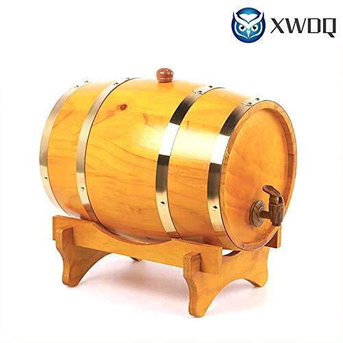 - XWDQ 1LVintage Wood Oak Timber Wine Barrel for Beer Whiskey Rum Bucket Brewage Hotel Exhibition Display