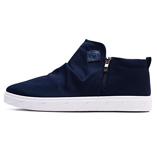 Bbdsj Casual chaussures Chaussures de toile pour hommes Eté et automne Chaussures de toile Simple Ne pas porter de chaussures occasionnelles F ImIVovD