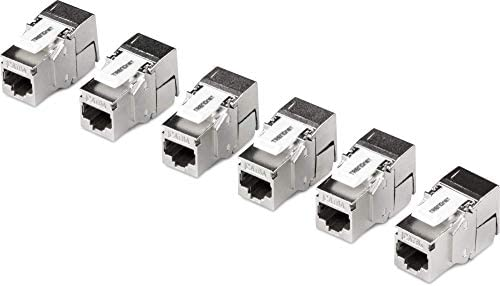 Trendnet Shielded Cat6a Keystone Jack 6 Pack 180 Angle Termination Color Coded Labeling For T568a T568b Wiring Tc K06c6a Amazon Sg Electronics