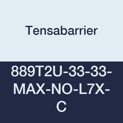 Tensabarrier - 889T2U-33-33-MAX-NO-L7X-C - black post, 2