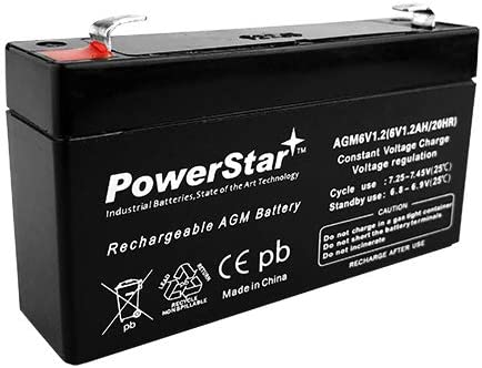 PowerStar 6V 1.2AH SLA AGM Battery Replaces Interstate SLA0865