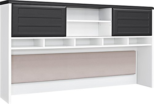 Ameriwood Home Pursuit Hutch, White/Gray