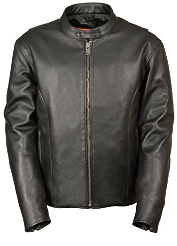 Milwaukee Men's Classic Vented Scooter Jacket with Side Zippers (Black, XXX-Large)