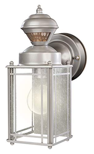 Heath Zenith HZ-4135-SV 150 Degree Motion Sensing Decoractive Security Light with DualBrite Technology, Silver (Renewed)