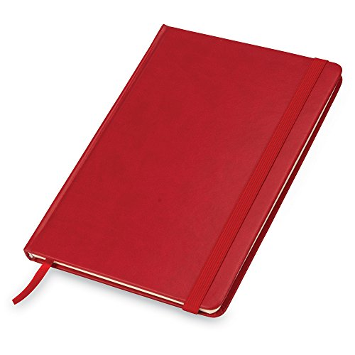 Samsill Hardcover Notebook/Daily Journal, 5.75 Inch x 8.25 Inch, 80 Ruled Sheets (160 Pages), Red