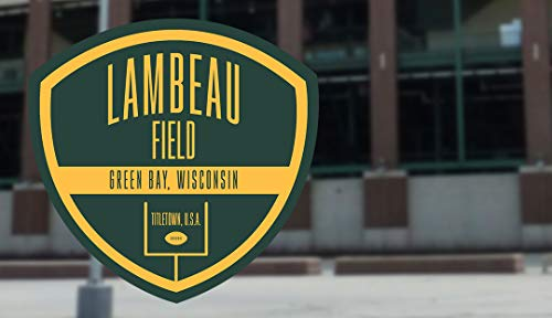 Overall Store Lambeau Field 316 Miles Traffic Sign Label Decal Sticker Sticks to Any Surface 5""