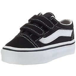 Vans Boys Old Skool V Active, Black, 10 M US Toddler