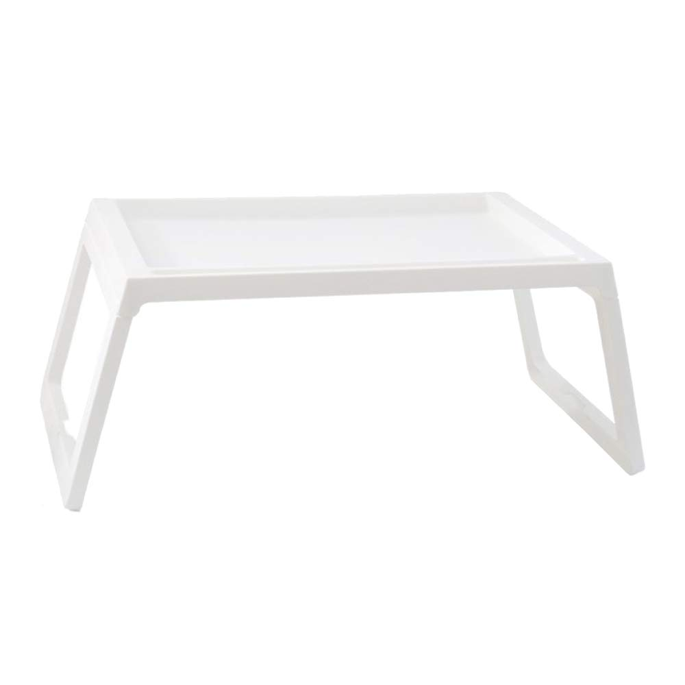 LIULIFE Bed Table Tray - Foldable Breakfast Serving Tray for Kids Eating, Laptop Computer Desk for Sofa, Portable Outdoor Camping Stand with Floding Legs,White-54.535.5cm by LIULIFE (Image #1)