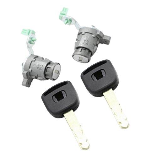 D DOLITY Easy Install Safety DRIVER SIDE DOOR LOCK CYLINDER FOR HONDA W/ 2 KEYS