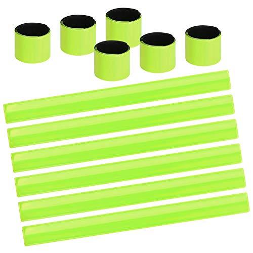 URAQT 12PCS Reflektorbänder Schnapparmbänder Klatscharmband Sicherheitsband Reflektierend, Reflexband für Kinder, Erwachsene, Jungen und Mädchen im Set zum Fahrrad Fahren, Laufen oder Joggen