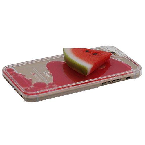iPhone 6S Dur Étui de protection, Original Rubber Pastèque Forme Conception Flowable Rouge Liquide Coque de Protection Case pour Apple iPhone 6 / 6S 4.7 inch Transparent Case