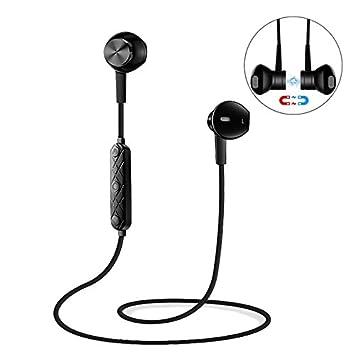 SODIAL Deportes Inalambricos Auriculares Bluetooth V4.1 Estereo Auriculares con Iman Auriculares de Reduccion de