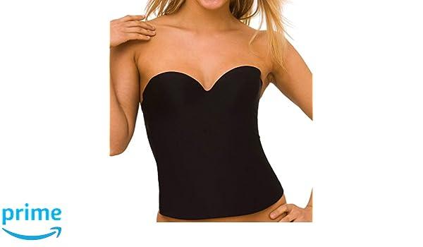 38462d8f36 QT Strapless Convertible Bustier Bra (1100) 36B Black at Amazon Women s  Clothing store  Bras