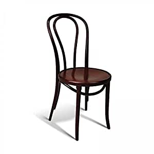 Amazon.com - European Bentwood Wood Dining Chairs Mahogany ...