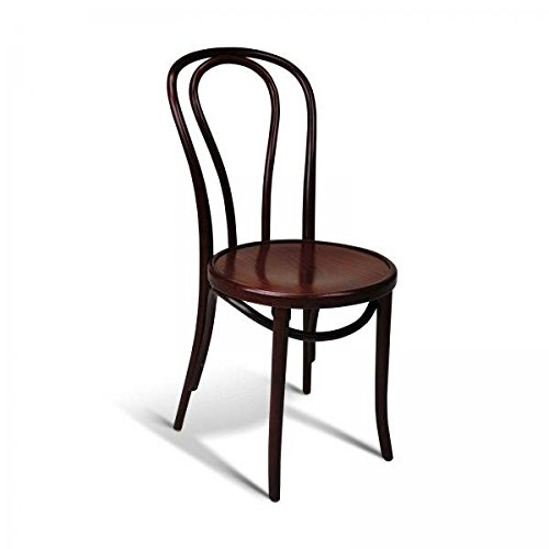 European Bentwood Wood Dining Chairs Mahogany 2-Pack For Sale