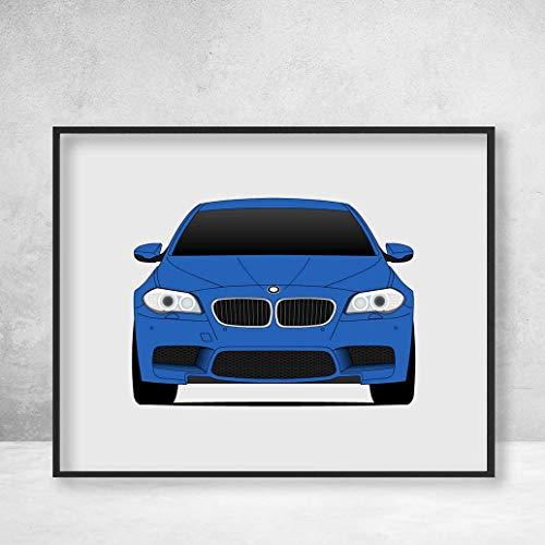 BMW M5 F10 5 Series (2011-2017) Poster Print Wall Art Decor Handmade M Power BMW M
