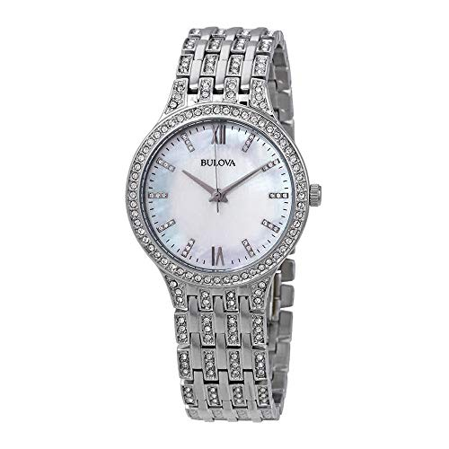 Bulova Women's 96L242  Swarovski Crystal Stainless Steel Watch -