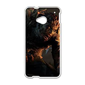 HTC One M7 Cell Phone Case White Dying Light LSO7984533