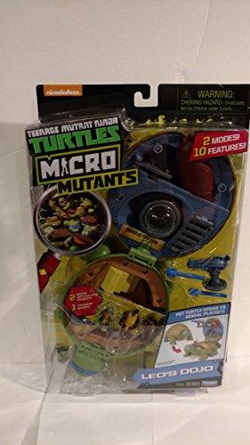 Teenage Mutant Ninja Micro Leonardo's Dojo Pet Turtle To Playset