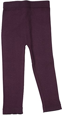 (Silky Toes Infant, Baby, Toddler Knit Leggings, Cotton Pants for Girls and Boys, (Eggplant, 12-18M))