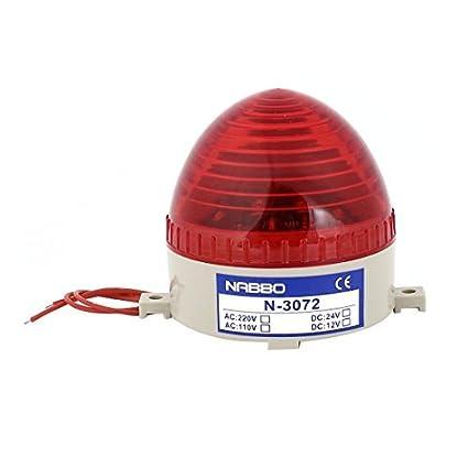 DC 24V LED rojo industrial Advertencia Bombilla Lámpara torre de la señal N-3072 - - Amazon.com