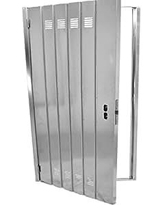 puerta de cantina galvanizada reversible dx sx incl tirador h 2 m l 60 cm bricolaje. Black Bedroom Furniture Sets. Home Design Ideas