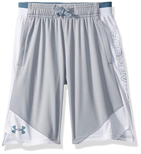Under Armour Boys' Stunt 2.0 Workout Gym Shorts, Mod Gray (014)/Ash Gray, Youth - Mens Shorts Ash