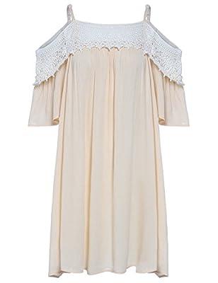ROMWE Women's Off Shoulder Lace Dress
