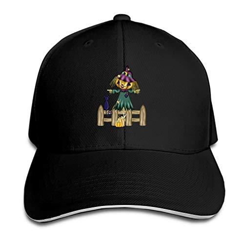 Halloween Scarecrow Snapback Cap Flat Bill Hats Adjustable Blank Caps for Men Women