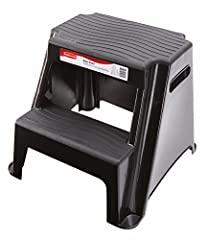 The Rubbermaid RM-P2 2-Step Molded Plastic Stool is perfect tool when you need a little extra height for items in the kitchen, bathroom, office or garage. Designed with a solid molded plastic frame, non-slip step treads and a 300-pound weight...