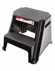 Rubbermaid RM-P2 2-Step Molded Plastic Stool with Non-Slip St...