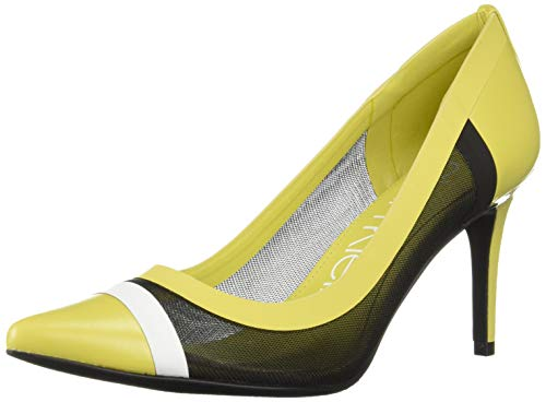 Lime Green Pumps - Calvin Klein Women's Gonzalez Pump Lime/Black/White 7.5 M US