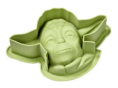 STAR WARS 20564 Yoda Silikon Backform, grün, 27,5  x  18,5  x  7 cm