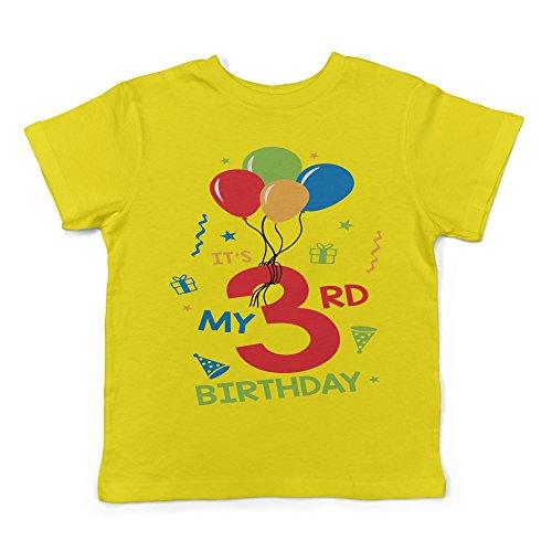 Birthday Yellow T-shirt (Lil Shirts It's My 3rd Birthday Toddler T-Shirt (3T, Yellow))