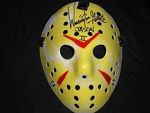 WARRINGTON GILLETTE Signed Hockey Mask Jason Voorhees Friday the 13th Part 2 Autograph (Y)