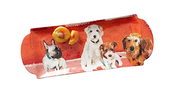 NWT Anthropologie Dog a Day Plate-Black Lab Pug or Westie Frenchie Dachshund