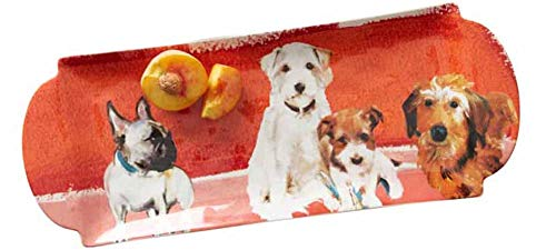 Sally Muir Anthropologie Four Dogs Dog-a-Day Stoneware Platter Plate