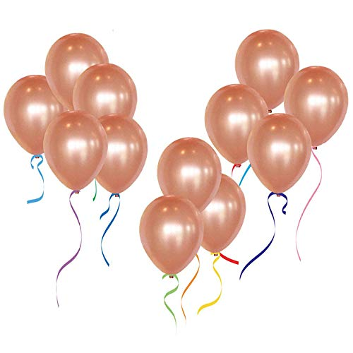 12 Rose Gold Latex Balloons For Wedding Party Decorations 50pcs/pack