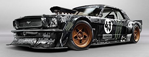 Ken Block Gymkhana Poster Large 58x22 Mustang Unicorn Hoonigan Monster Rally Dc Shoes