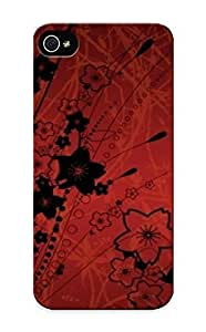 meilinF000C78ff7f25c1 Faddish Black Flowers Case Cover For iphone 4/4s With Design For Christmas Day's GiftmeilinF000