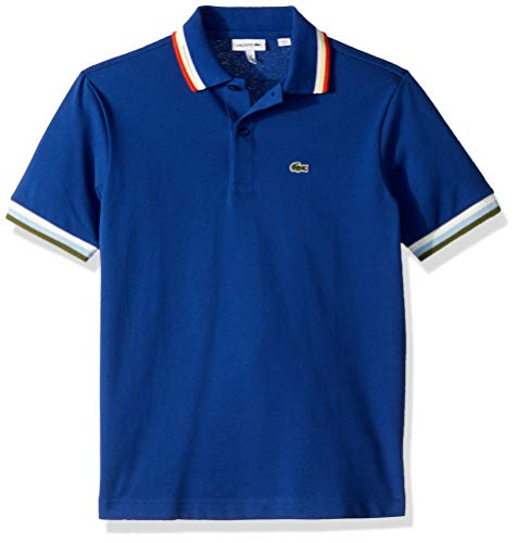 (Lacoste Toddler BOY SEMI Fancy Pique Polo, Captain, 2YR)