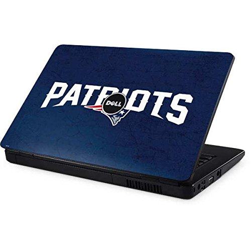 Skinit NFL New England Patriots Inspiron 15 & 1545 Skin - New England Patriots Distressed Design - Ultra Thin, Lightweight Vinyl Decal Protection by Skinit