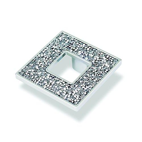 - TOPEX HARDWARE M1890.32CRLSWA TOPEX HARDWARE M1890.32CRLSWA Square Knob with Hole and Swarovski Crystals, Chrome, Chrome