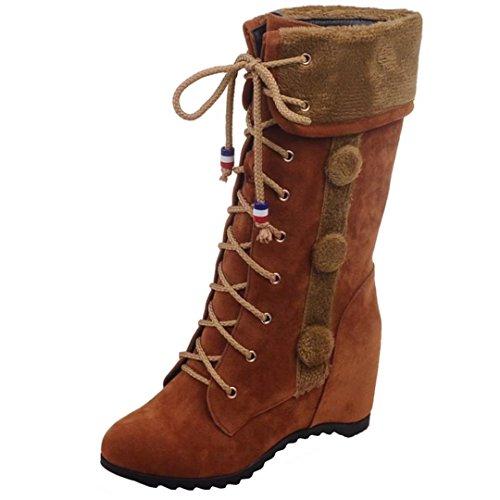 AIYOUMEI Women's Classic Boot Brown 3ee0S