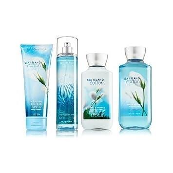Sea Island Cotton Gift Set Signature Collection – Bath Body Works – Body Lotion – Fragrance Mist – Body Cream Shower Gel Full Size