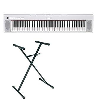 Pack Yamaha NP-32 blanco - Piano digital 76 teclas + soporte en X: Amazon.es: Instrumentos musicales