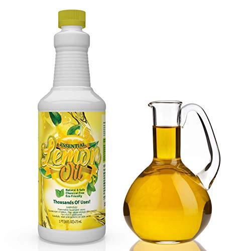 Pure Cold Pressed Lemon Oil | Lemon Essential Oil | Lemon Oil Cleaner & Deodorizer (16 oz)