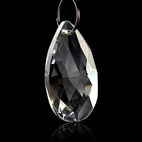 10PCS Clear Crystal Hanging Drop Pendants Decor Chandelier Lamp Part Prisms 50mm